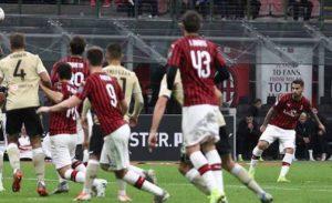 AC Milan vs SPAL, Menang Tipis Berkat Tendangan Bebas Suso