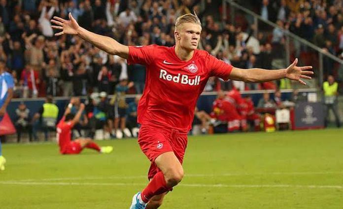 Striker muda, Erling Haaland saat masih berseragam RB Salzburg