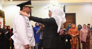 Gubernur Khofifah Secara Resmi Melantik Bupati Mojokerto