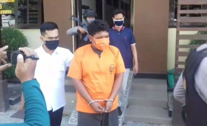 Pelaku pencurian yang berhasil ditangkap petugas Polres Probolinggo Kota