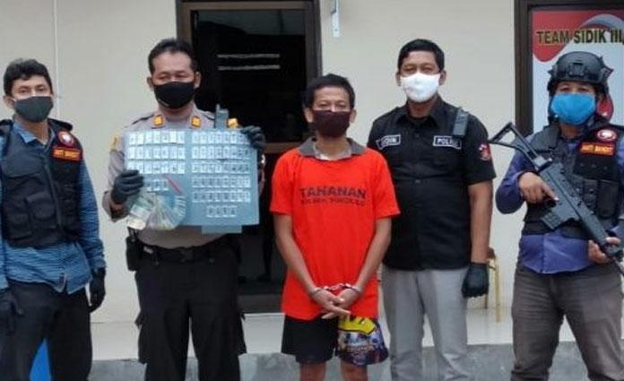 Pelaku pengedar sabu dan foto barang bukti narkoba yang berhasil diamankan