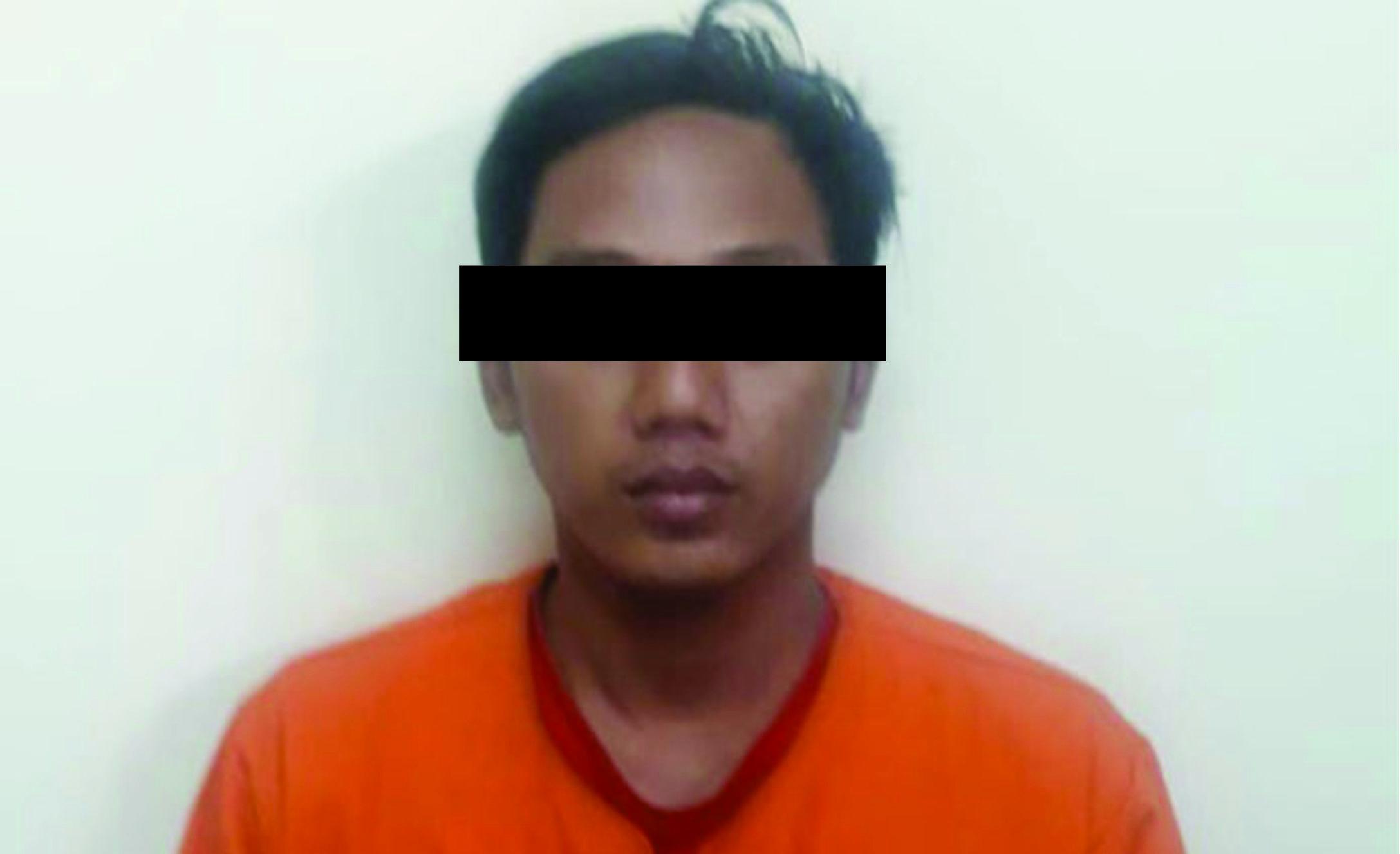Pelaku usai ditangkap oleh Satuan Reserse Narkoba (Satreskoba) Polresta Sidoarjo