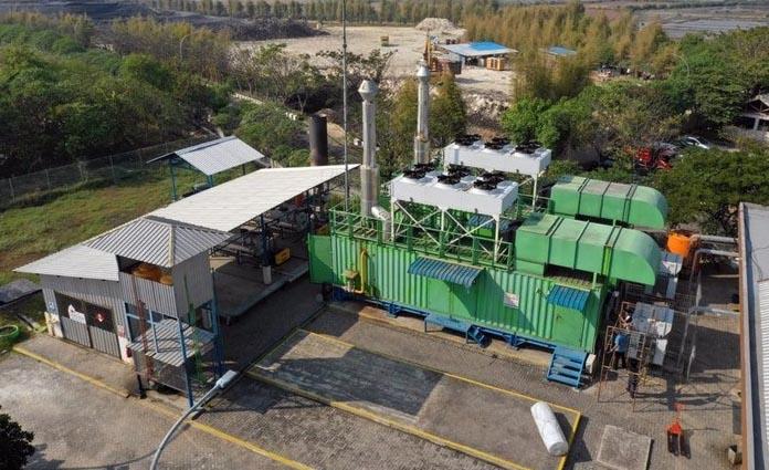 Kondisi reaktor Pembangkit Listrik Tenaga Sampah Benowo, Surabaya
